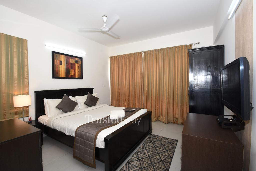 Bedroom at a Trustedstay property in Bangalore | Plot No 6 ( BELSD1 )